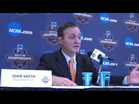 Oklahoma State Coach John Smith after 2nd place NCAA team finish