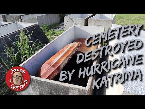 Cemetery Destroyed by Hurricane Katrina