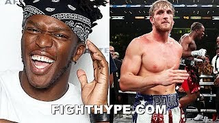 """KSI IN TEARS LAUGHING AT LOGAN PAUL APPEALING LOSS; RIPS HIM FOR """"FIGHTING DIRTY TO DROP ME"""""""