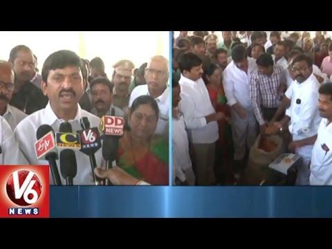 MP Ponguleti Srinivas Reddy Inaugurates Red Gram Purchase Center   Khammam   V6 News