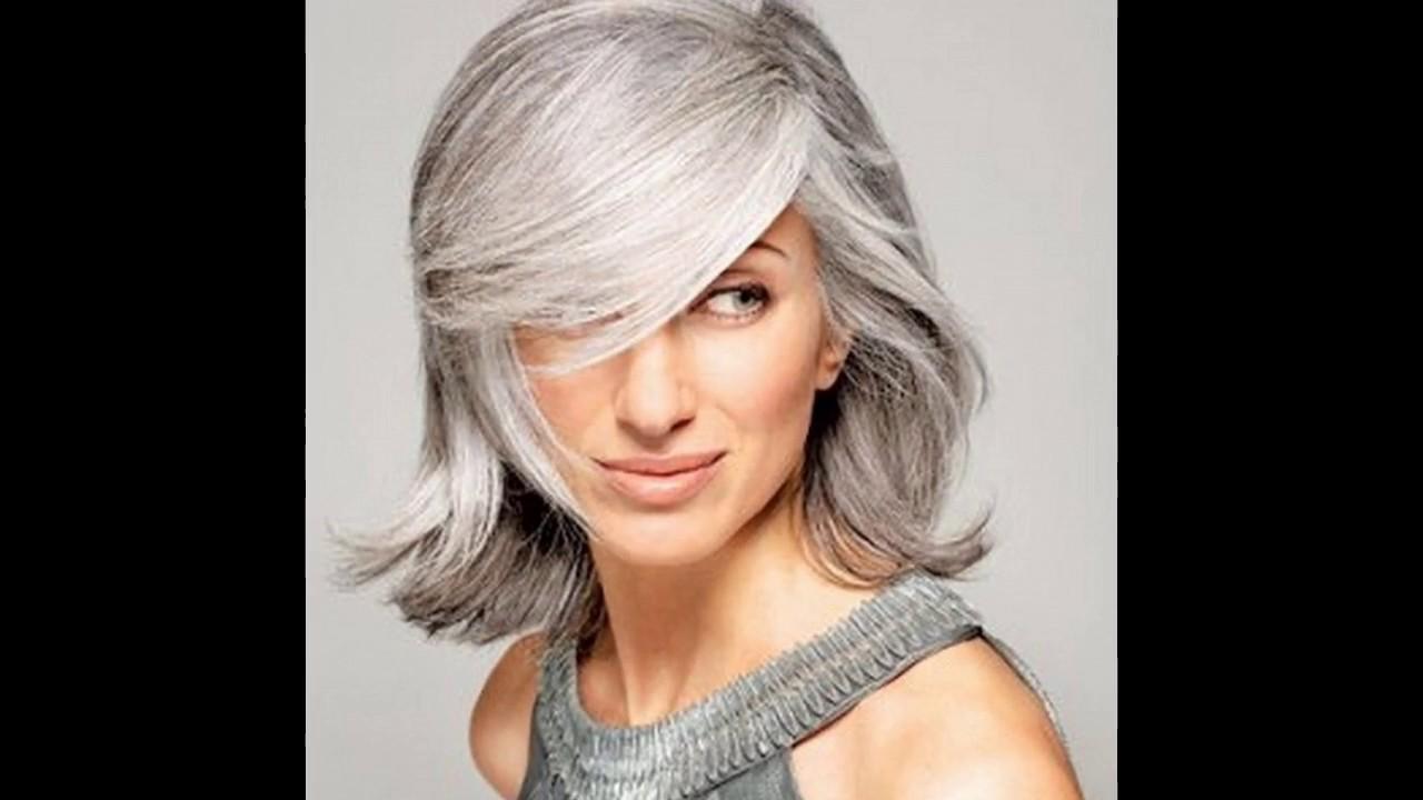 Exceptionnel Les tendances Coloration cheveux blancs - YouTube ZC16