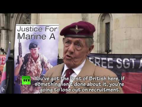 Veterans came out to support Sgt Blackman at appeal