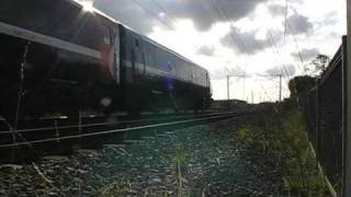 trains and tones at doncaster and bentley crossing line side ecml 10/10/09