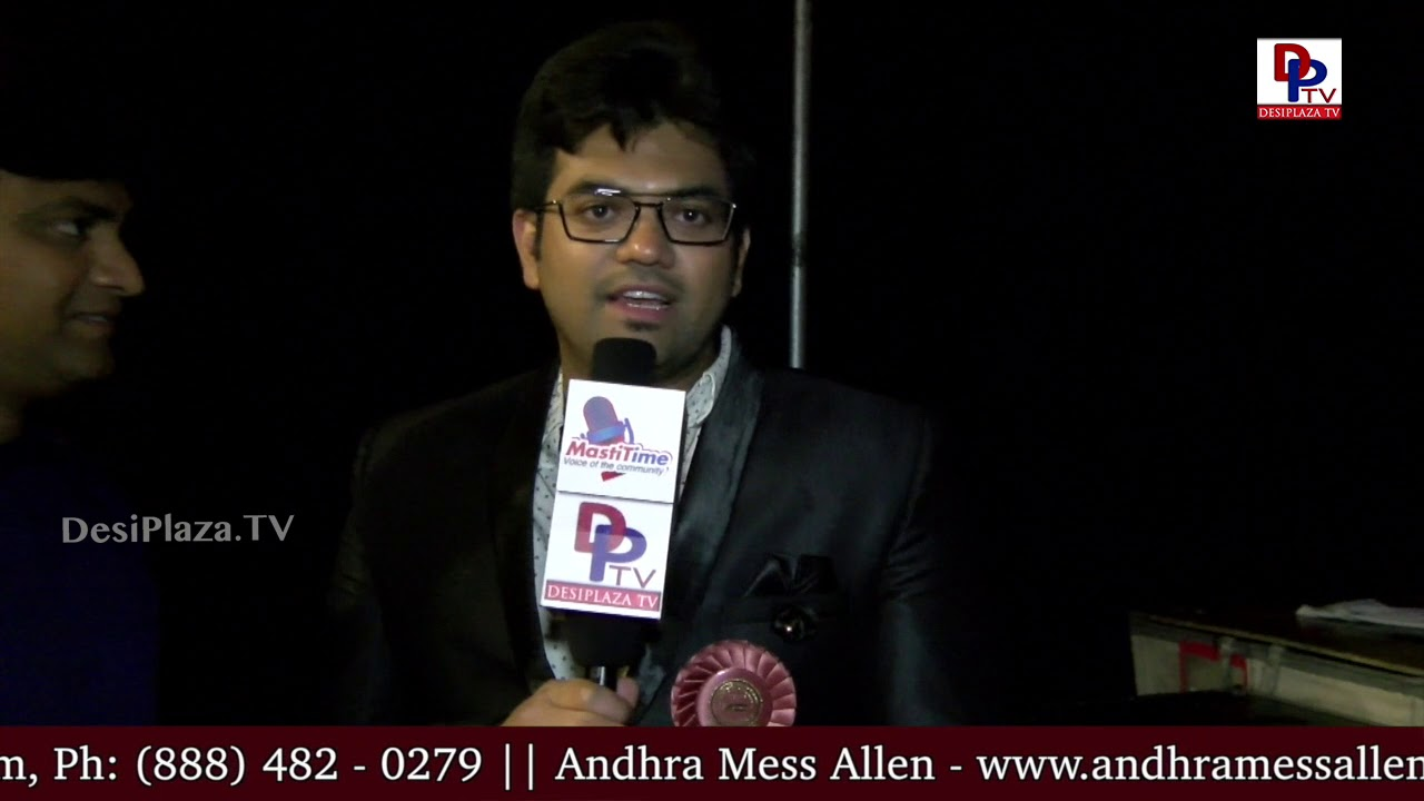 Vamshi, ATC Media & Communication Co-Chair thanks DesiplazaTV for being a part of the event | DPTV