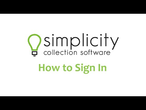 SimplicityCollect - How to Sign In