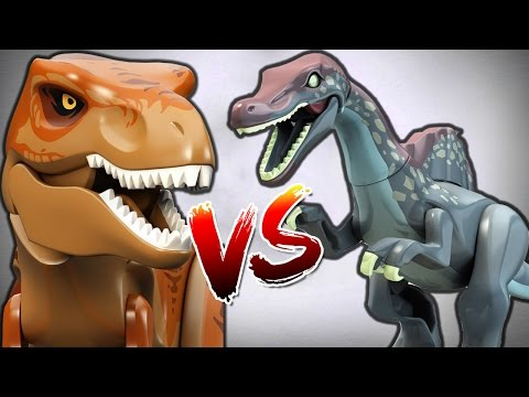 SPINOSAURUS Vs TYRANNOSAURUS REX - LEGO Jurassic World