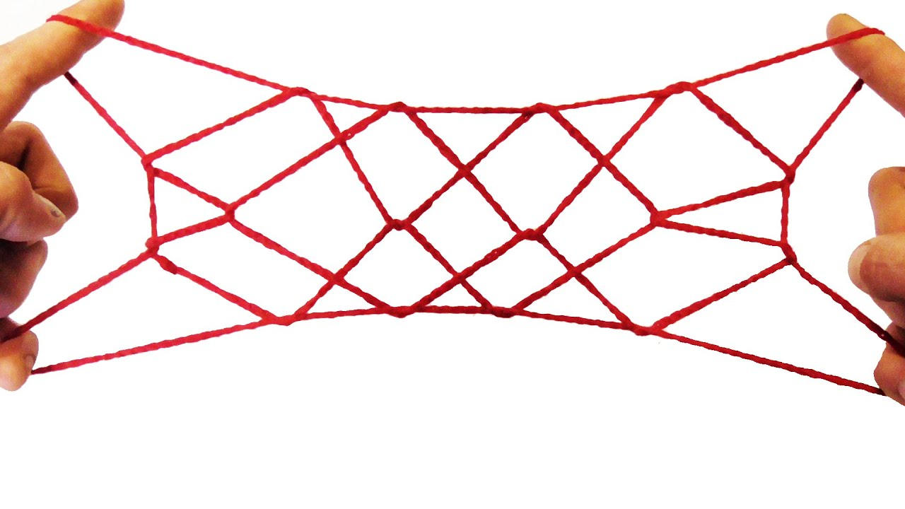 String tricks how to make the eskimo net string figure for How to weave a net with string