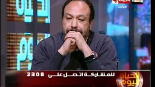 أحد شباب 25 يناير يبكي بعد خطاب الرئيس مبارك