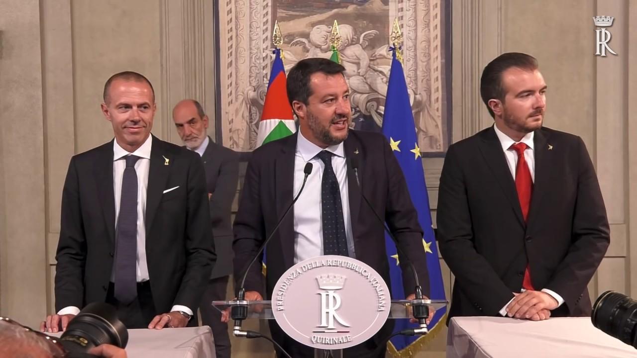 consultazioni gruppi parlamentari lega salvini premier