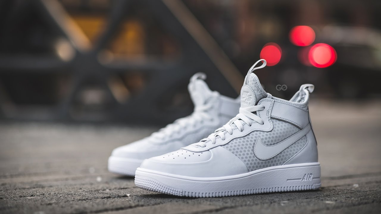 review on feet nike air force 1 ultraforce mid pure. Black Bedroom Furniture Sets. Home Design Ideas