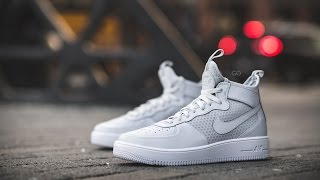 review on feet nike air force 1 ultraforce mid pure platinum