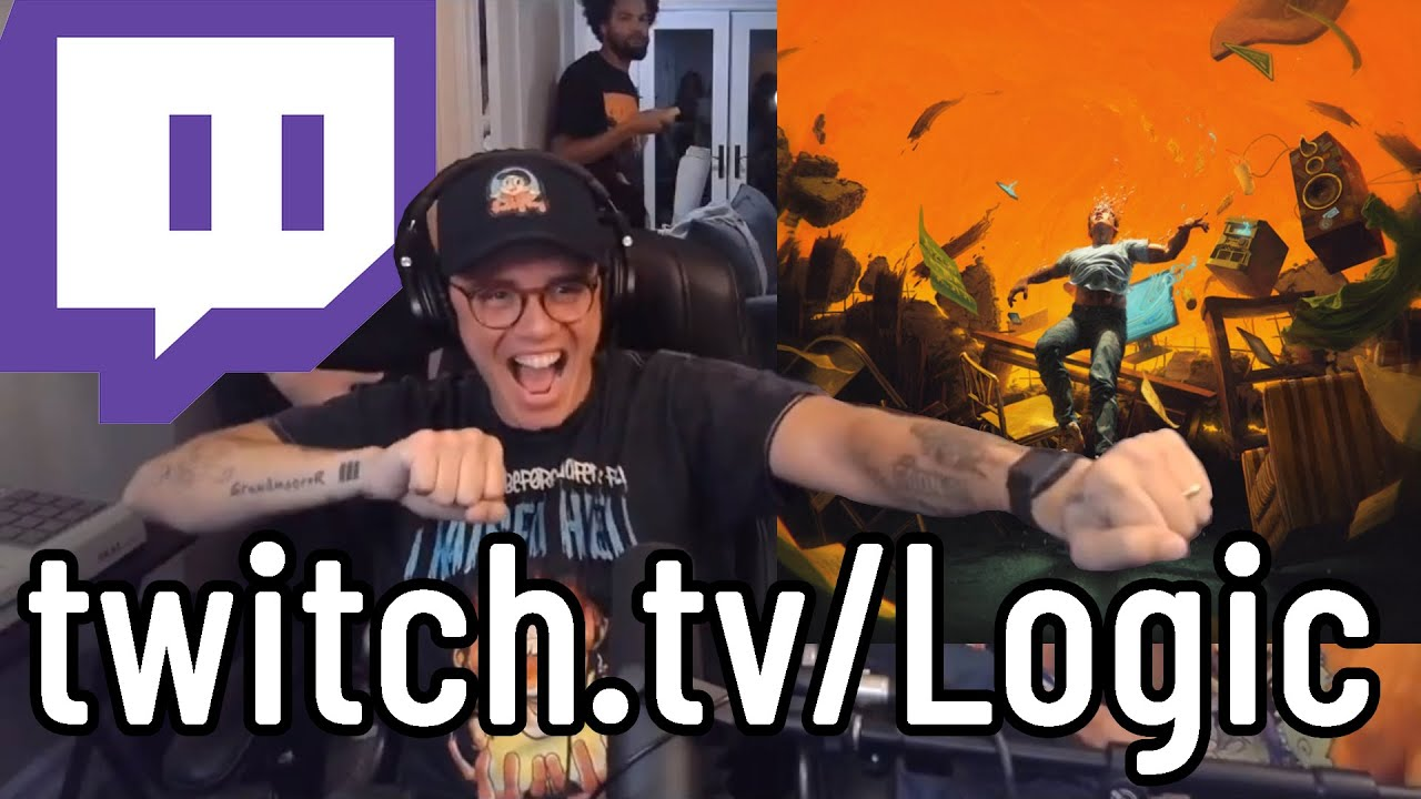 Logic's No Pressure World Premiere on Twitch (w/Chat Reaction ...