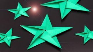 Sterne basteln zu Weihnachten: schöne Origami Sterne falten - DIY