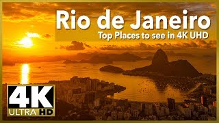 RIO DE JANEIRO Top Places to See in 4k Time Lapse, Stock Video Footage
