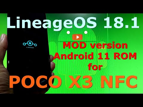 LineageOS 18.1 MOD for Poco X3 NFC (Surya) Android 11