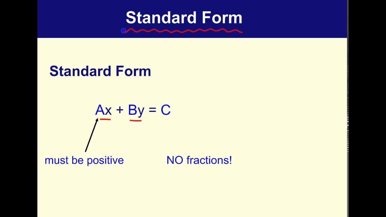 Standard form definition youtube standard form definition falaconquin