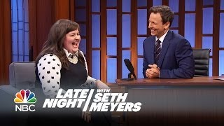 Aidy Bryant on Working with Seth - Late Night with Seth Meyers