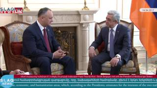 Serzh Sargsyan met with the President of Moldova Igor Dodon