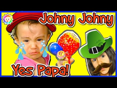 Thumbnail: Johny Johny Yes Papa Song- Bad Baby Crying and Learn Colors with Big Chupa Chups Colorful Lollipops
