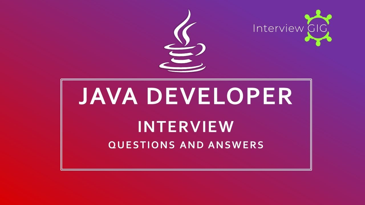 java interview questions and answers for experienced 2019