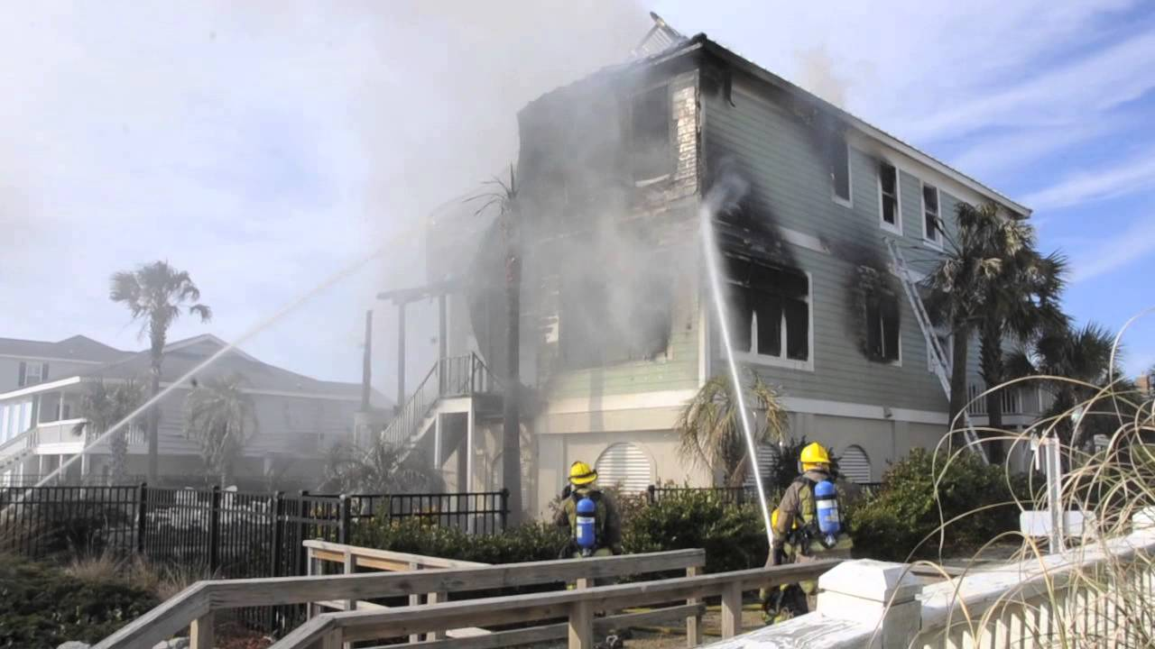Garden City Beach House Fire YouTube