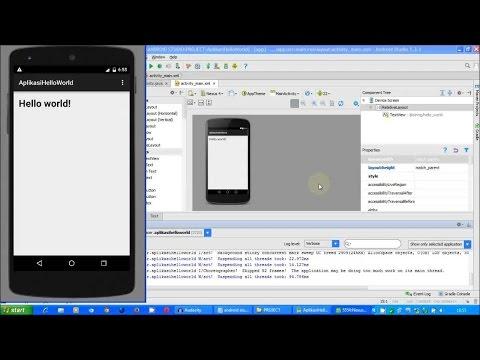 Tutorial Android - Membuat Aplikasi Hello World dan Menjalankan Pada Emulator   Android Studio