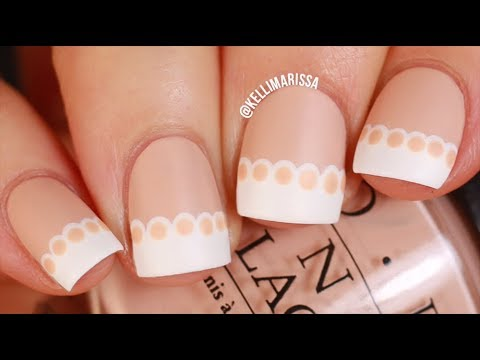 EASY Lace French Manicure Nail Art Design Tutorial: KELLI MARISSA