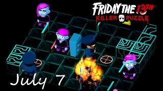 Friday the 13th Killer Puzzle Daily Death July 7 2020 Walkthrough