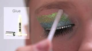 BA STAR 3 Color Glitter Eye- Columbia Blue, Lime & Super Sparkle Glitter Thumbnail