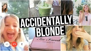 i accidentally dyed my hair blonde
