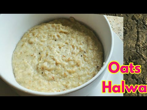 Oats Halwa   How to Make Oats Halwa for Toddlers   Oats Pudding