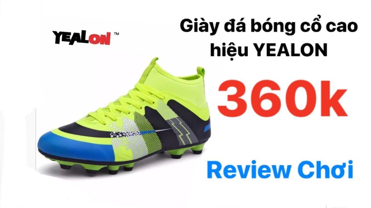 Giày đá bóng cao cổ hiệu YEALON –  Review chơi