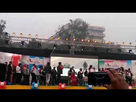 Zumba exercise dance at historic 1st #patna marathon||