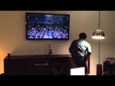 Jon Heder dancing to his scene in Napoleon Dynamite in Real