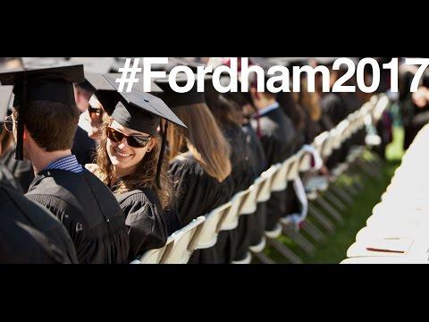 Fordham University Commencement Ceremony 2017