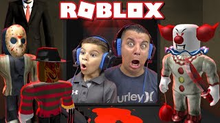 All the way up THE SCARY ELEVATOR in Roblox!
