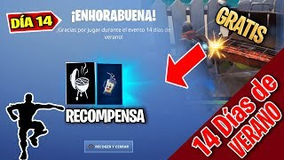 *NEW FREE MOCHILA BATIDO!! How to COMPLETE the DAY CHALLENGE #14 FORTNITE 14 Summer Days
