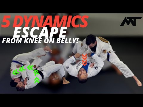 5 powerful Escape From  Knee On Belly (From White Belt to Black Belts)