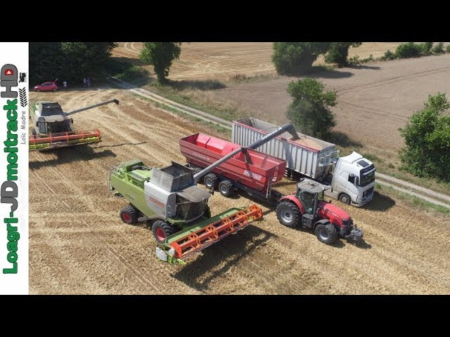 BIG Harvest 2017 : 2 Lexion 750 + Perard 46m3 + Massey 8660 !!!