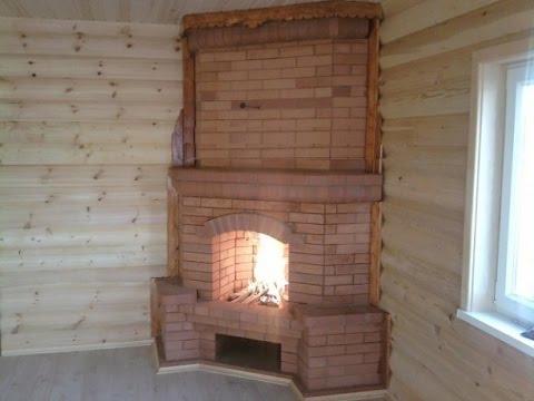 Como hacer una chimenea de ladrillo en esquina youtube - Chimeneas de obra ...