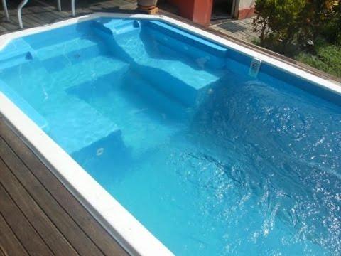 Como hacer una piscina de fibra de vidrio youtube for Construir piscina