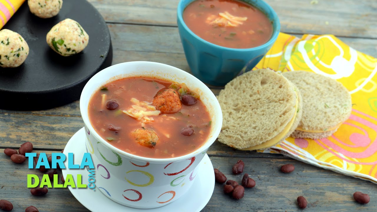 Mexican tomato soup with cottage cheese balls by tarla dalal youtube mexican tomato soup with cottage cheese balls by tarla dalal forumfinder Images
