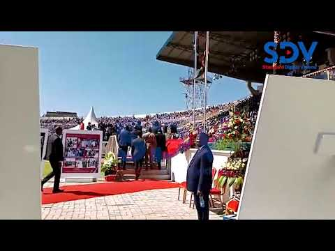 South Sudan President, Salva Kiir, arrives at Nyayo Stadium for Mzee Moi's funeral service
