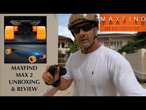 MaxFind MAX 2 Electric Skateboard Unboxing & Review