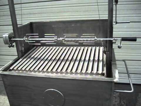 Stainless steel bbq with argentine v grate grill and - Barbecue argentin ...