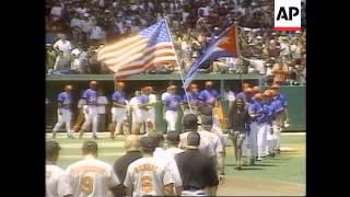 CUBA: US BASEBALL TEAM BEATS CUBANS NATIONAL SQUAD - LATEST