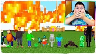 ¡LA ESCUELA DE BALDI SALE ARDIENDO EN MINECRAFT! - ANIMACIÓN ESCUELA DE MONSTRUOS (VIDEO REACCIÓN)