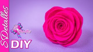 Como hacer flores: Flor de Fieltro #1 | Video# 30 | SDetalles | DIY