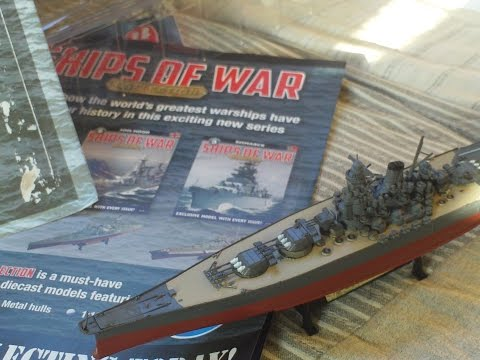 REVIEW,SHIPS OF WAR MAGAZINE PART 1 YAMATO 1945 BATTLESHIP 1/1000 SCALE MODEL