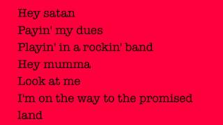 Highway To Hell ACDC lyrics